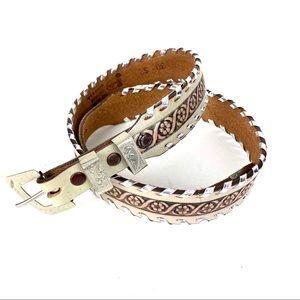 Justin Belt Western Boho Leather Size 30